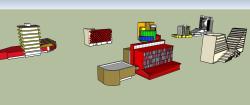 هفت نوع پروژه آماده ساختمان اداری و تجاری در اسکچاپ (sketchup)