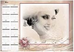 تقویم لایه باز 1400 عروس طرح شانزده